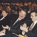 Siim Kallas (vasakul) ja Heiki Kranich (paremal) 1997. aasta mais Reformierakonna üldkoosolekul