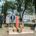 Gruusia 100 mälestusmärgi avamine Tallinnas