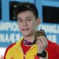 Sun Yang 2019. aastal Lõuna-Koreas MM-i 200 meetri vabaujumise kuldmedaliga.