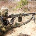 Scoutspataljon harjutas Lätis lahinglaskmist.