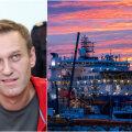 NAVALNÕI JA NORD STREAM 2 TUGISAMMAS: Paremal nähtav Akademik Cherskiy on Venemaa ainus laev, mis suudab panna merepõhja gaasitorusid. Fotol asub laev Rügeni saarel Mukrani sadamas.