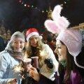 Eestit külastas aastavahetusel tuhandeid vene turiste. Fotol tähistavad idanaabrid aastavahetust siiski Punasel väljakul.