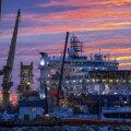 Vene torupaigalduslaev Akademik Tšerski eile Saksamaal Mukrani sadamas.