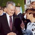 Leedu ja Eesti presidendid taasiseseisvuspäeva üritusel mullu Kadriorus.