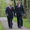 Владимир Путин и Джордж Буш-младший