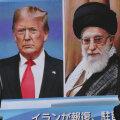 Donald Trump ja Ali Khamenei teleekraanil