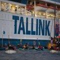 ГАЛЕРЕЯ И ВИДЕО   Теплоход Silja Europa компании Tallink оказался на саммите G7 в центре протестов