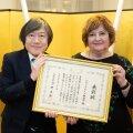 Tallinn, 04.02.2020. PÖFF ja Jaapani kultuuriklubi Asashio said Jaapani välisministri aukirja, mis anti üle Jaapani suursaadiku residentsis.