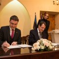 Peaminister Taavi Rõivas ja Küprose Vabariigi president Nicos Anastasiades