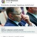 Urmas Reitelmanni Facebooki-postitus.
