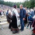 Kersti Kaljulaid ja Toomas Tõniste laulupeol