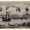 Sel pildil on keskaja lõpu (aastal 1554) Pärnut kujutatud natuke uhkemana kui hansalinn tegelikult oli. Aga hea pildi toonasest linnast annab see ikka. Kõrgumas üle linna Nikolai kirik. Orduloss vasakul.