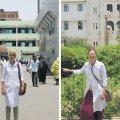 Arstitudengid Hanna (vasakul) ja Sandra ütlesid, et Sudaanis on koole, kus arstideks õpivad ainult väga rikkad noored, kelle eksamitulemused peavad sissepääsemiseks ületama vaid  40 punkti 100-st.