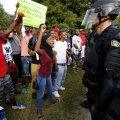 Meeleavaldajad protestivad Baton Rouge'is Alton Sterlingi tapmise pärast.