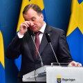 Rootsi peaminister Stefan Löfven kolmapäeval pressikonverentsil