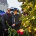 Esimese advendiküünla süütamine Tallinna raekoja platsil