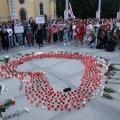"""ФОТО   """"Хотим, чтобы с этого началась наша поющая революция"""". В центре Таллинна прошла акция в поддержку Беларуси"""