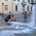 Vahutav purskkaev Tartu vanalinnas