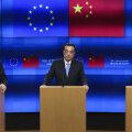Euroopa Komisjoni president Jean-Claude Juncker, Hiina peaminister Li Keqiang ja Euroopa ülemkogu eesistuja Donald Tusk eile Brüsselis.