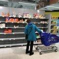 Helsingi kauplustes olid täna osa lette toidukaubast tühjad.