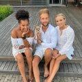 Monika, Mac ja Sonja tänavu suvel Maci sünnipäeval.