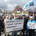 Meeleavaldus Rail Balticu vastu vabaduse väljakul