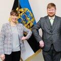 President Kersti Kaljulaid ja uus riigi peaprokurör Andres Parmas.