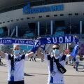Финские болельщики перед матчем с Россией