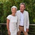 """Christine Lagarde'i viis ärimees Xavier Giocantiga kokku juhus – kunagi nooruses olid nad teineteist tundnud. """"Armastus esimesest silmapilgust,"""" on Lagarde taaskohtumist kirjeldanud."""