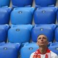 Üksik Poola fänn Peterburi staadionil.