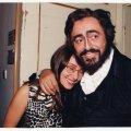 Pavarotti oma teise abikaasa Nicolettaga.