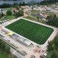 DELFI FOTOD JA VIDEO | Viljandis valmis uus jalgpalliväljak, kuid kasutada seda veel ei saa