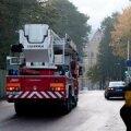 Balti laevaremonditehase tulekahju kustutati eile südaööks