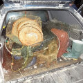 Salapüügivahendid, mis kopterilennuga Võrtsjärvest leiti ja välja võeti. Foto: keskkonnainspektsioon