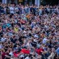 Jalgpalli vaatamine lauluväljakul 07.07.21