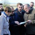 Eesti president Kersti Kaljulaid ja Gruusia riigipea Georgi Margvelashvili (paremal) täna Khurvaletis.