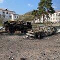 Ağdərə haigla ees seisnud kiirabiautod on muutnud ilmetuks metallikänkraks.