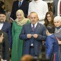 Mevlüt Çavuşoğlu koos Eesti islamikogukonna liidrite ja Türgi suursaadikuga