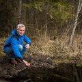 Andres Marandi sõnul jääb põllumajanduse intensiivistudes ka Eestis aina vähemaks põhjavett, mida ei pea enne tarbimist puhastama. Fotol Äntu Valgejärve ääres