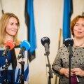 Kaja Kallas ja Mailis Reps koalitsiooni tegemas