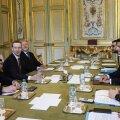 Facebooki juht Mark Zuckerberg (vasakul keskel) hakkab Prantsusmaa valitsusele jagama vihakõnes kahtlustatute isikuandmeid.