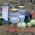 Õnnetuspaigale toodud lilled