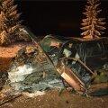 Üks kolmest õnnetusse sattunud autost.