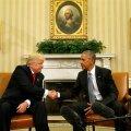 Obama ja Trumpi esimene kohtumine.