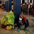Venezuela migrandid ootavad Peruuse sissepääsu.