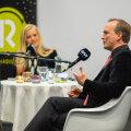 """Ingrid Peek ja Mart Noorma Raadio 2 saate """"Hallo, Kosmos!"""" avalikul salvestusel Teletornis"""