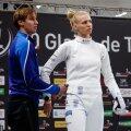 Tallinn, 02.11.2019. Vehklemise MK-etapp Tallinna Mõõk, individuaalvõistluse kohtumise kaotas Katrina Lehis. Võitjaks kuulutati Ana Maria Popescu.