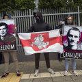 Valgevene vastane protestiaktsioon Varssavis