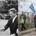 Ivan Dratšov hoolealuseid 1968. aastal juhendamas ning kõrvalpildil tänaseks lahkunud võrkpallimaestro meenutamine.
