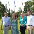 President Toomas Hendrik Ilves ja Ieva Ilves võõrustasid eile õhtul Ärmal Poola riigipead Andrzej Duda't ja Agata Kornhauser-Duda't